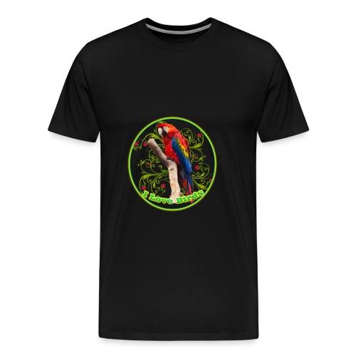 I Love Birds - Cool - Men's Premium T-Shirt