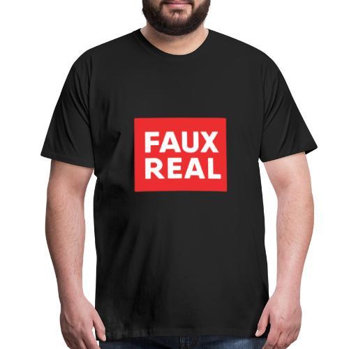 Faux Real Red - Men's Premium T-Shirt