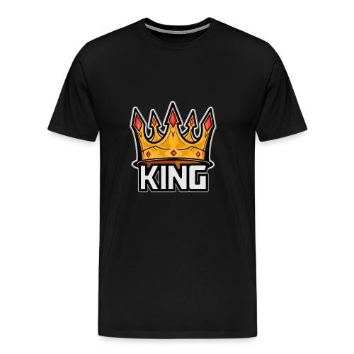 King Plays logo art - Men's Premium T-Shirt