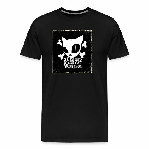 THE 3 LEGGED BLACK CAT WORKSHOP shirt - Men's Premium T-Shirt