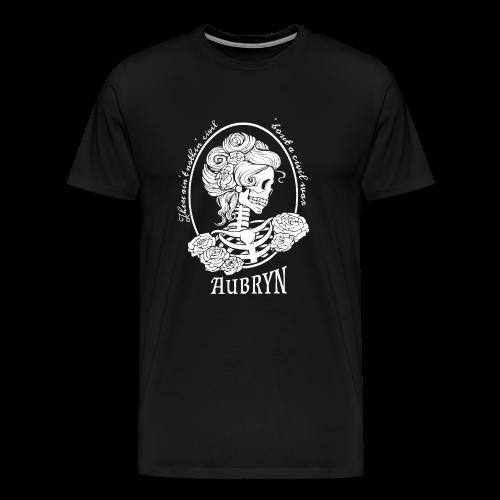 Nothin' Civil White Rose Skeleton - Men's Premium T-Shirt
