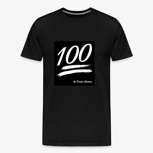 100 WHITE - Men's Premium T-Shirt