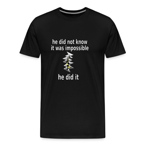 t shirt impossible and makes man rip breach FC - Men's Premium T-Shirt