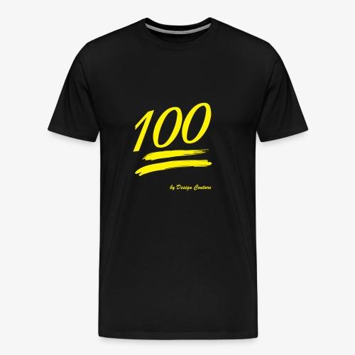 100 YELLOW - Men's Premium T-Shirt
