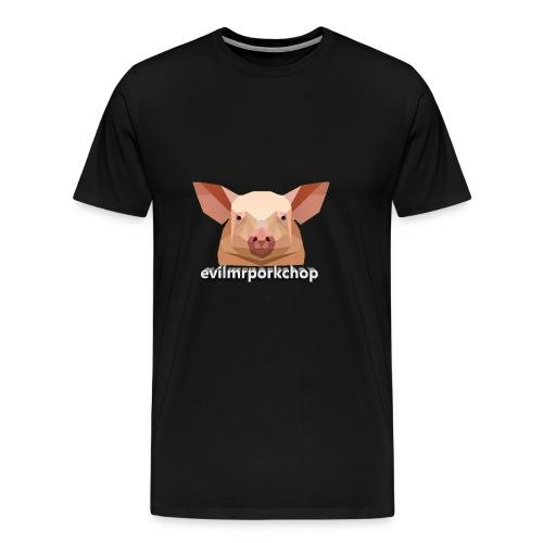 3D evilmrporkchop - Men's Premium T-Shirt