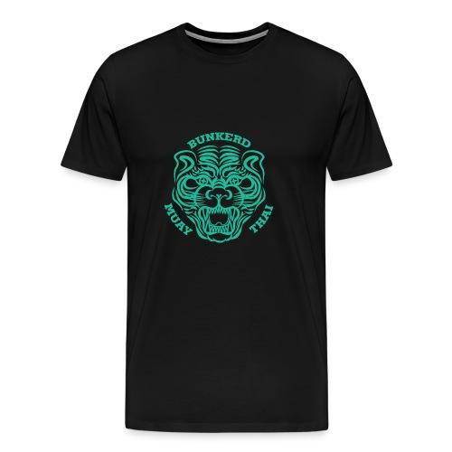 Tiger Print green - Men's Premium T-Shirt