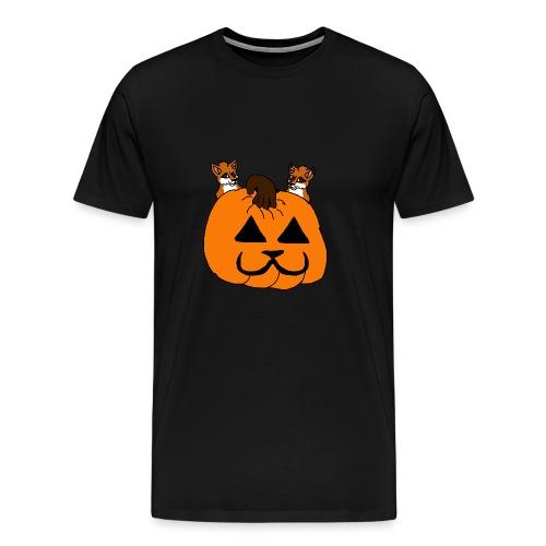 foxes with pumpkin - Men's Premium T-Shirt