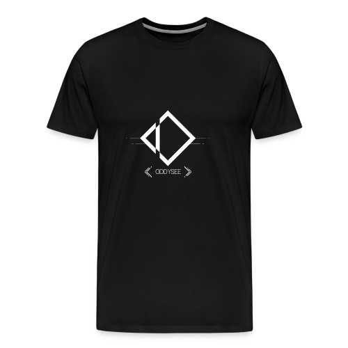 White Oddysee Logo - Men's Premium T-Shirt