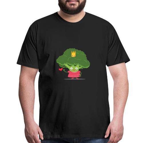 Broccoli give a heart - Men's Premium T-Shirt