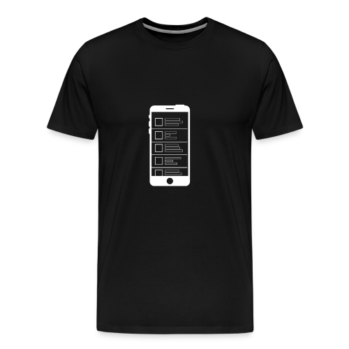 Social Media Feed - Men's Premium T-Shirt
