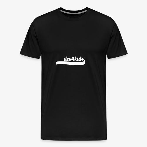 dev4kids Logo White - Men's Premium T-Shirt