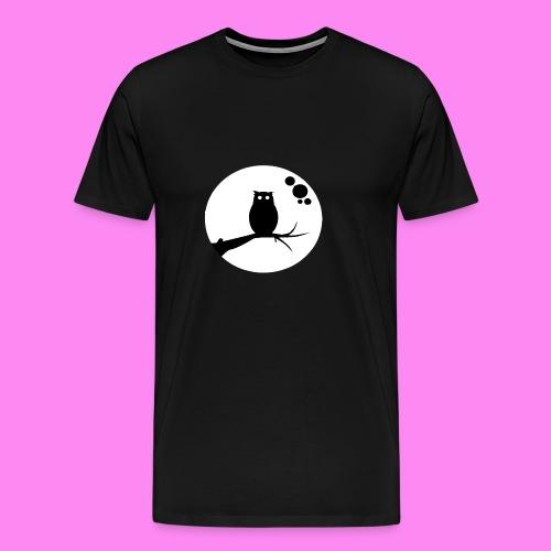 the owl awake - Men's Premium T-Shirt