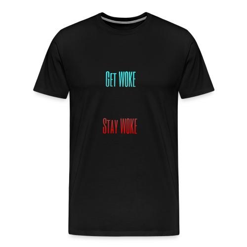 Stay W0KE - Men's Premium T-Shirt