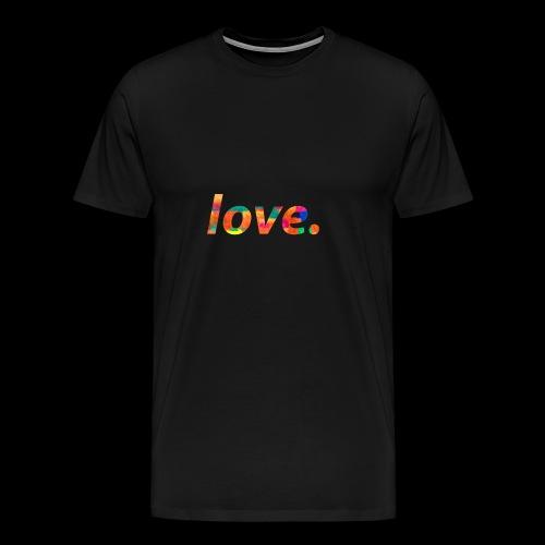colorful LOVE Design - Men's Premium T-Shirt