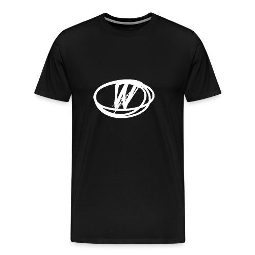 wow design white - Men's Premium T-Shirt