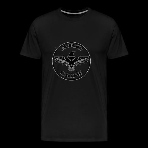 ARC CROW Logo in a circle - Men's Premium T-Shirt