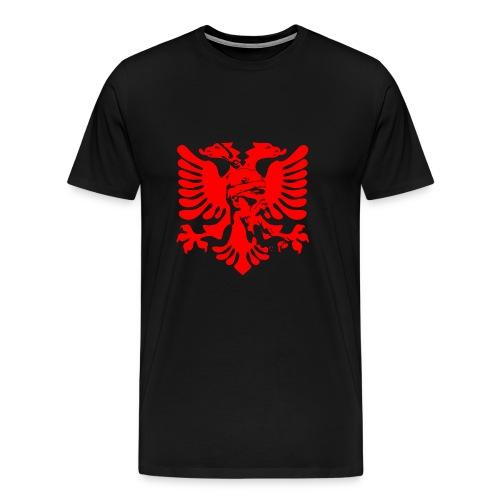 Albanian eagle with national hero Skanderbeg - Men's Premium T-Shirt