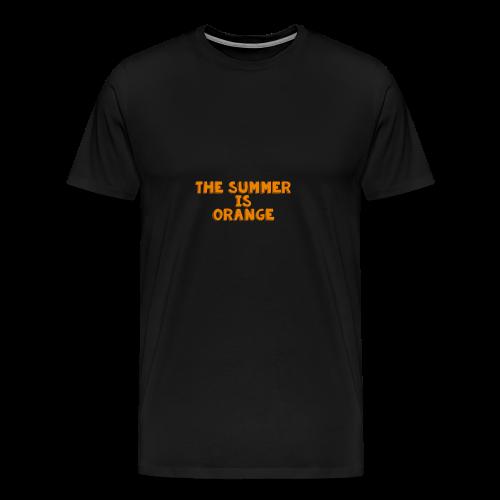 The Summer Is Orange Limited Time - Men's Premium T-Shirt