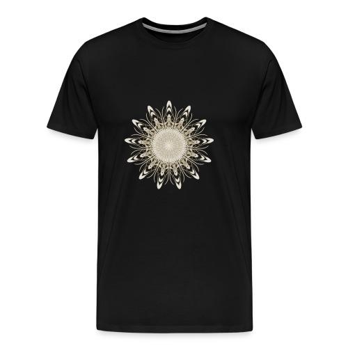 Flower Fractal Mandala Gold - Men's Premium T-Shirt