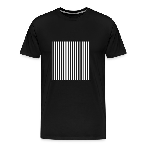Black & White Stripes - Men's Premium T-Shirt