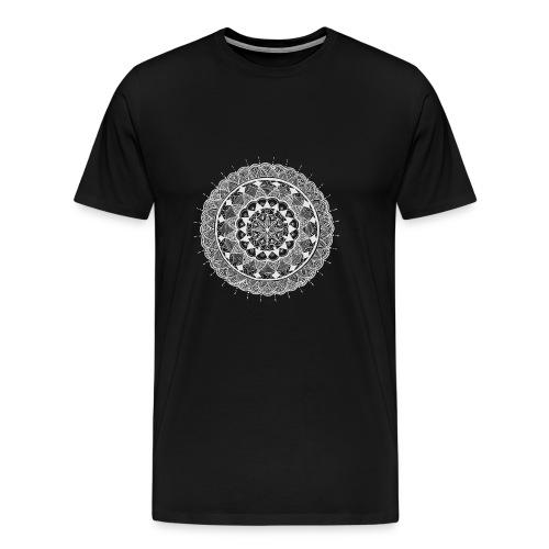 mandala white - new art - Men's Premium T-Shirt