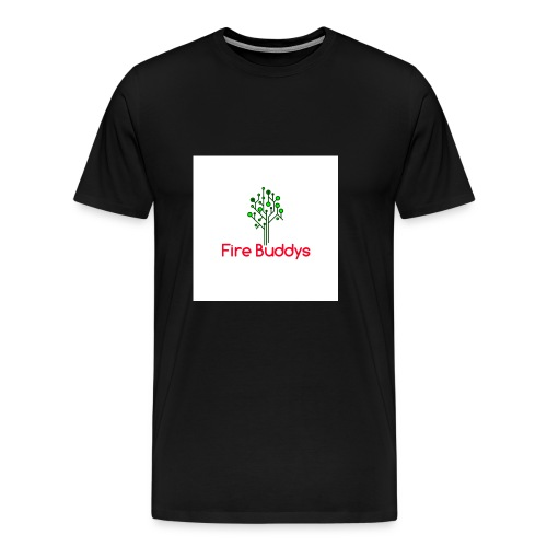 Fire Buddys Website Logo White Tee-shirt eco - Men's Premium T-Shirt