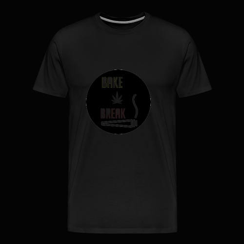 Bake Break Logo Cutout - Men's Premium T-Shirt