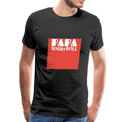 Funny Tshirt Papa Rock n Roll - Men's Premium T-Shirt