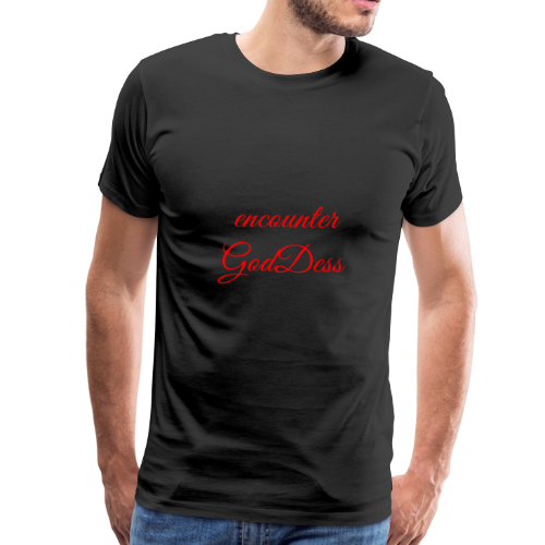 inspi shirt-7.2: encounter GodDess (red) - Men's Premium T-Shirt