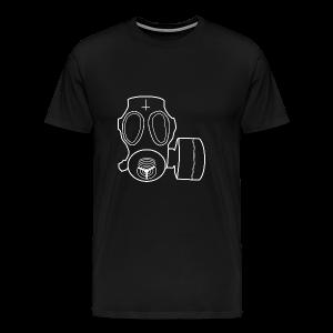 White Lord's Gas Mask - Men's Premium T-Shirt