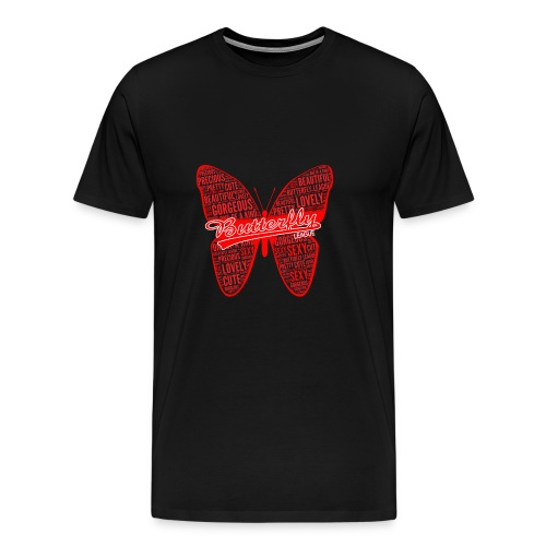 BUTTERFLY WORD RED - Men's Premium T-Shirt