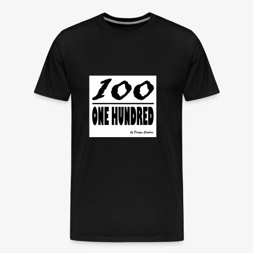 ONE HUNDRED BLACK - Men's Premium T-Shirt