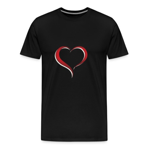 expressing love with a heart - Men's Premium T-Shirt
