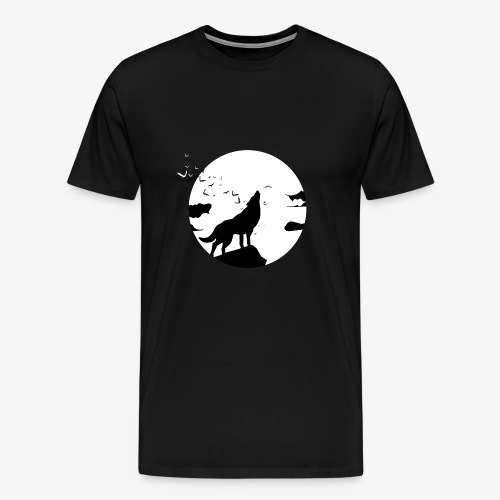 Wolf night - Men's Premium T-Shirt