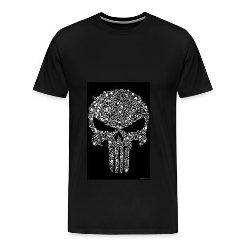 Skull wire theme - Men's Premium T-Shirt