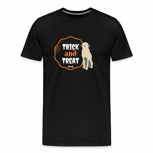 Trick and treat plus dog - Men's Premium T-Shirt