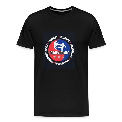 Taekwondo Tenets Graphic - Men's Premium T-Shirt