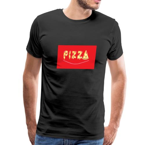 pizza in red - Men's Premium T-Shirt