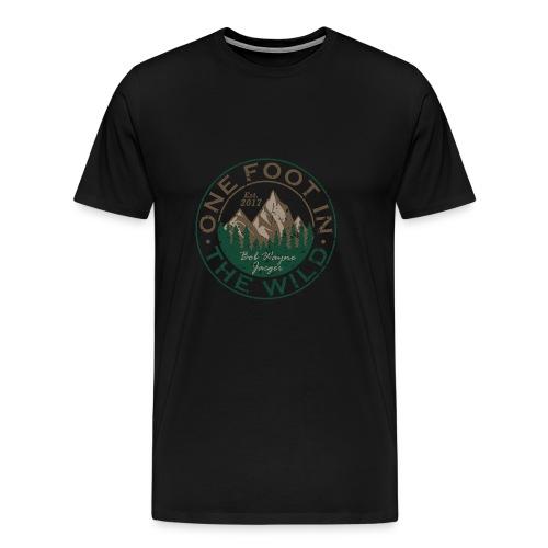 One Foot in the Wild Logo Gear - Men's Premium T-Shirt