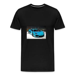 turquoise lamborghini aventador - Men's Premium T-Shirt