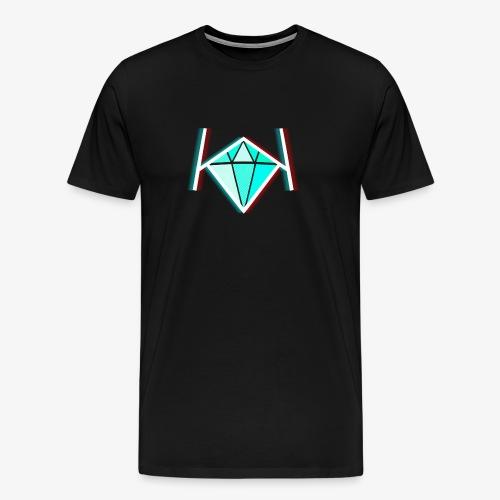 3D KK Diamond Logo - Men's Premium T-Shirt