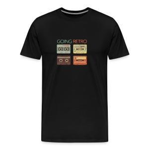 GOING RETRO CASSETTE TAPES - Men's Premium T-Shirt
