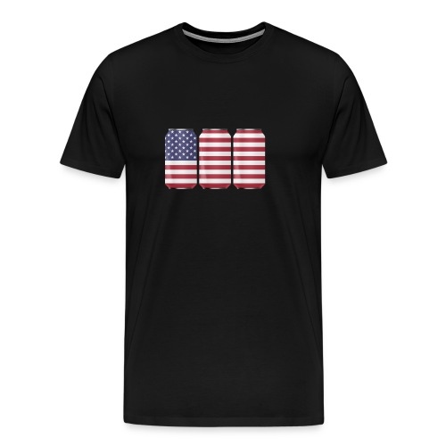 beer can USA Flag - Men's Premium T-Shirt