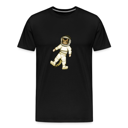 Outer-Space Astronaut Kitty - Men's Premium T-Shirt