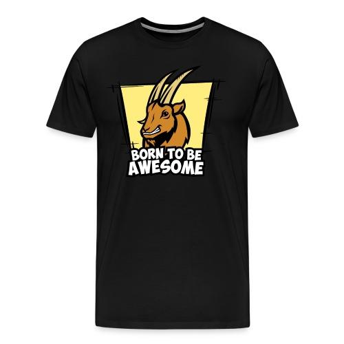 Capricorn - Bortn To Be Awesome - Men's Premium T-Shirt