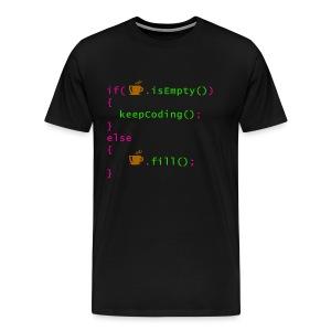 Coffee - coding syntax - Men's Premium T-Shirt