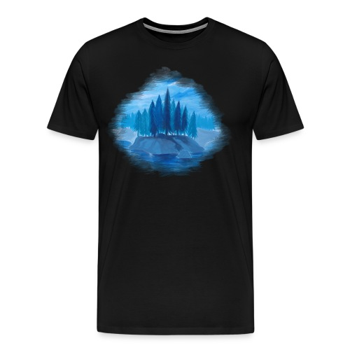 Lonely Island for color - Men's Premium T-Shirt