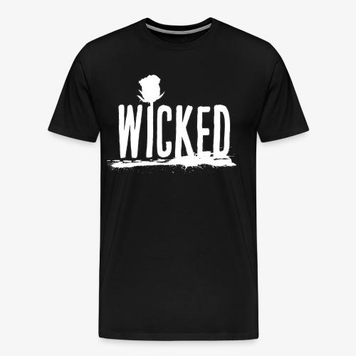 Wicked Rose (White) - Men's Premium T-Shirt