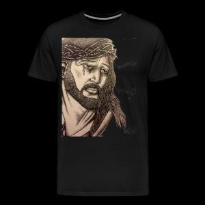 jesus with crown of thorns - Men's Premium T-Shirt
