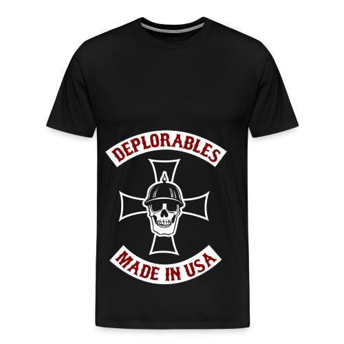 Deplorables - Made in USA - Bikers for Trump - Men's Premium T-Shirt